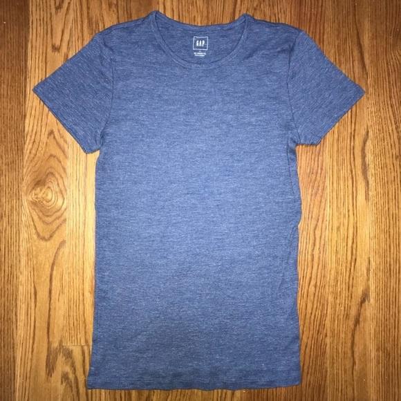 GAP Tops - GAP Modern Tee Shirt Blue Heather Size Large